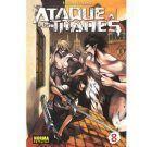 Ataque a los Titanes 08 (Manga)
