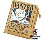 Cartera Zoro Wanted One Piece