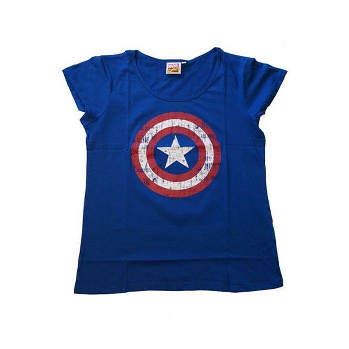 Camiseta Capitán América Chica