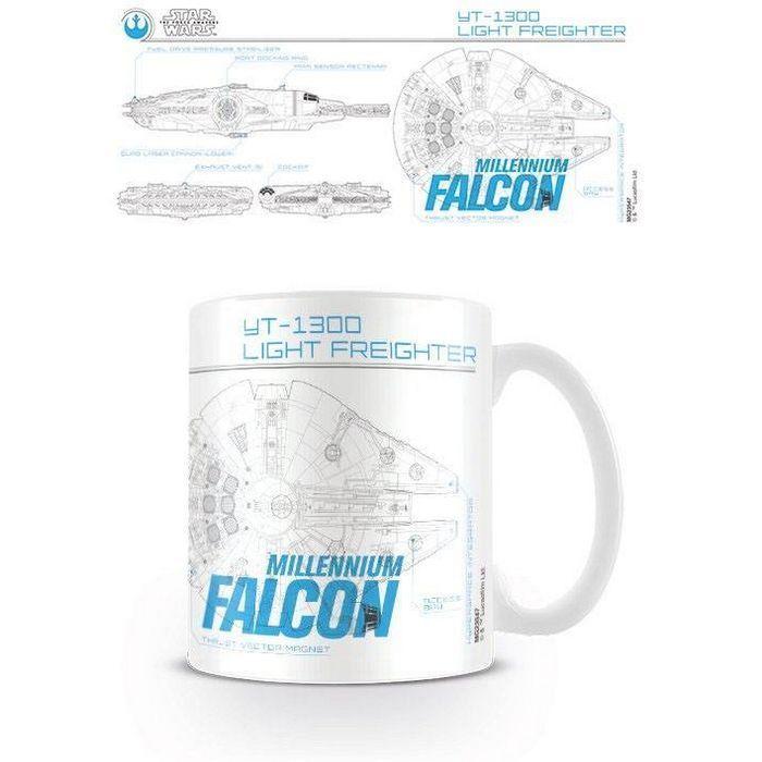 Star Wars Episode VII Taza Millenium Falcon Sketch