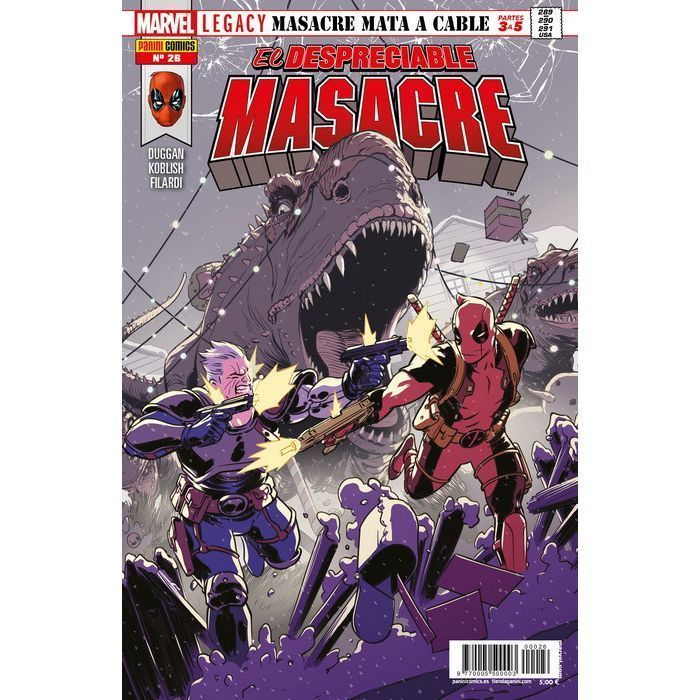 El Despreciable Masacre 26 Marvel Legacy. Masacre mata a Cable Partes 3 a 5
