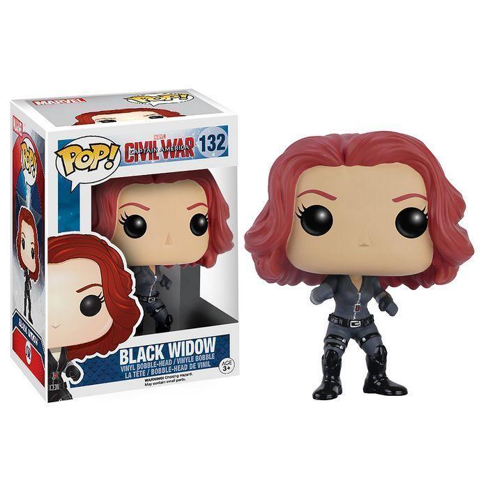 Captain America Civil War POP! Vinyl Cabezón Black Widow 10 cm
