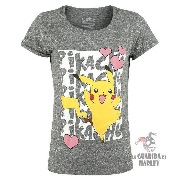 camiseta chica pikachu pokemon