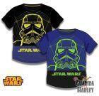 Camiseta Star Wars Infantil Negra / Azul